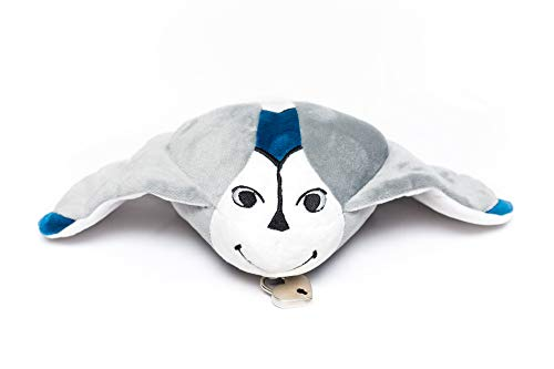 Sea-Crits Mylio The Stingray Plush Toy Stuffed Animal 12 Inch with a Secret and Lockable Pocket