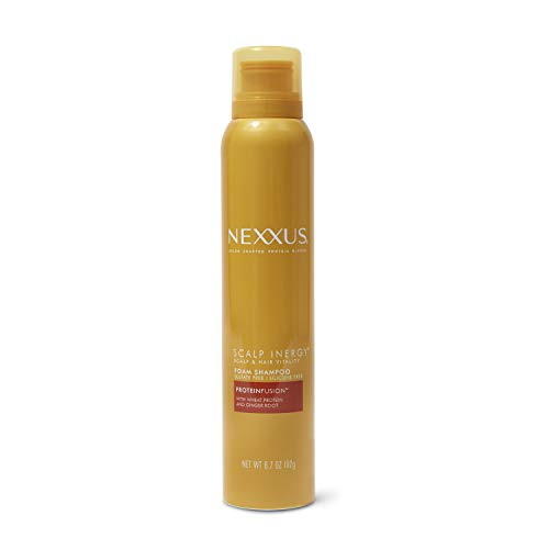 Nexxus Scalp Inergy Foam Shampoo, Clarifying Shampoo For Oily Hair With ProteinFusion, Paraben-Free 6.7 oz