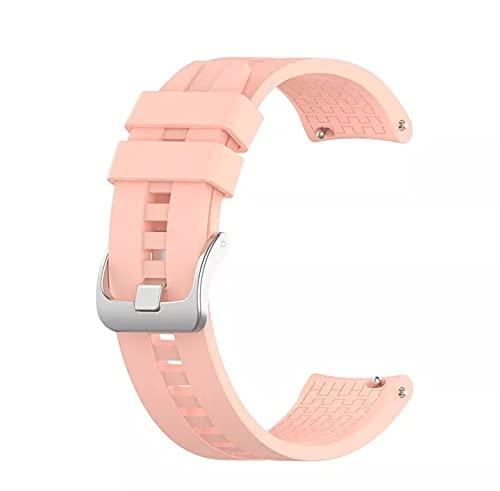 Correa de silicona deportiva para Huawei watch GT 2, 22mm, repuesto de pulsera para Huawei watch GT (Rosa)