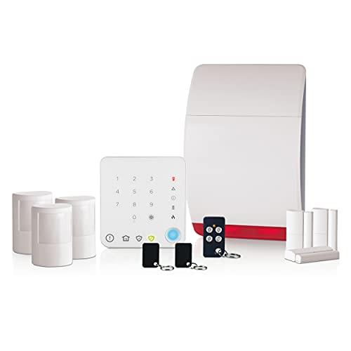 Honeywell Home Honeywell Hs351S Wireless Family Home Alarm with Intelligent C, White, 1