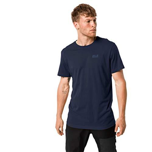 T-shirt Essential pour hommes Jack Wolfskin L Bleu nuit