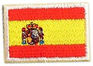 スペイン 国旗 アイロン ワッペン (ミニ 約33mmx24mm)