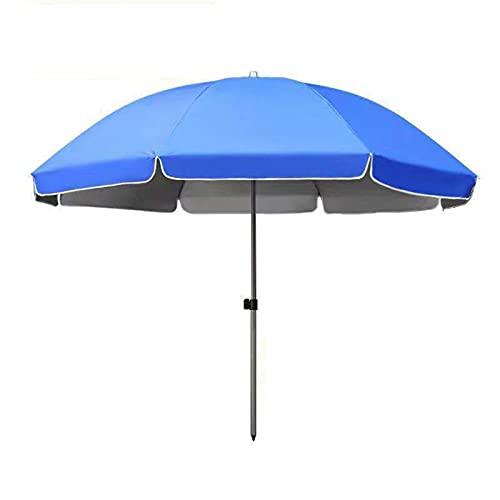 Faltbarer Regen- und Regenschirm im Freien, tragbarer UV-beständiger Regenschirm, wasserdichter kommerzieller Regenschirm ohne Sockel, Garten-Sonnenschirm mit starken Rippen und silberner Klebeschic