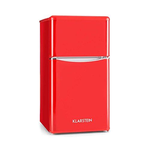 Klarstein Monroe Red • Frigorifero e congelatore • Aspetto Vintage • 61...