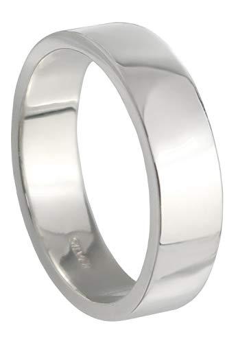 新宿銀の蔵 5mm幅 プレーン 平打ち シルバー 925 リング 7〜29号 (21号) メンズリング シンプル 指輪 メンズ
