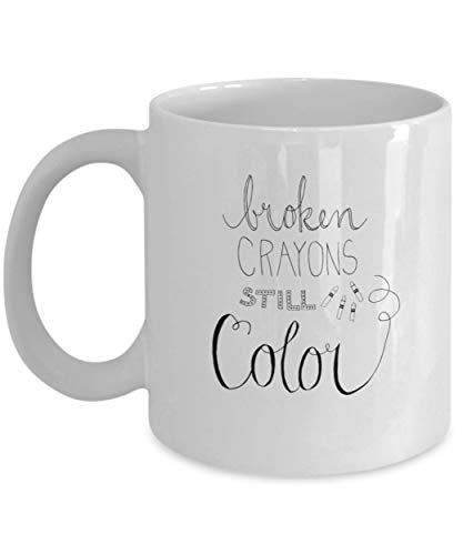 Broken Crayons Still Color Mugs (White) (White, 15)