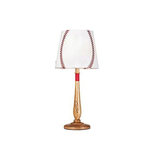 LSX- Schreibtischlampe Amerikanische Kinder Lampen, Schlafzimmer Nachttischlampe Kreative Holz Lampe Baseball Tisch LampSize 15 cm * 55 cm oyo (Color : Natural)