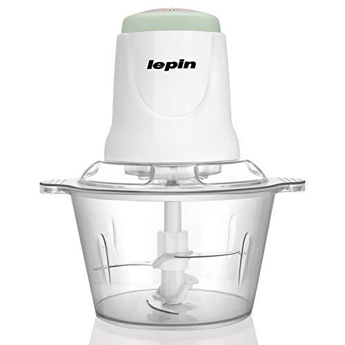LEPIN Zerkleinerer Elektrisch Universalzerkleinerer mit Starker Motor, 2.0L Kunststoffbehälter, 2 Geschwindigkeitsstufen Bremsfunktion,300W Multizerkleinerer für Fleisch, Obst, Gemüse und Babynahrung.
