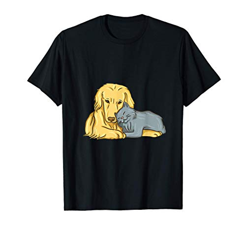 Perro gato diciendo gatos perros Camiseta