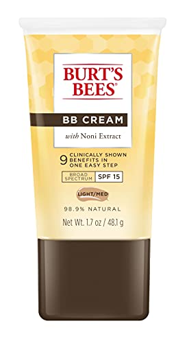 Burts Bees BB Cream with SPF 15, Light/Medium, 1.7 Ounces by Burt's Bees