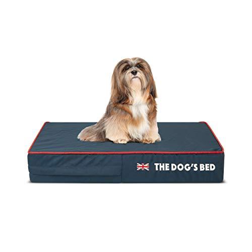 Letto per cani ortopedico Heritage Collection - Letto per cani in memory foam impermeabile, colore: Blu/Rosso