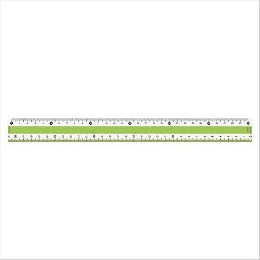 内部妥協祭司共栄プラスチック カラー定規 30CM グリーン (CPK-30-G)