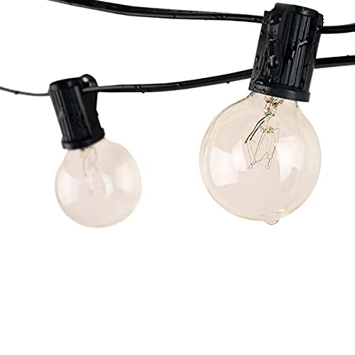 Festoon Lights Outdoor by FunHaven 25 Bulbs Set String Garden Lighting Mains Operated/Powered Hanging Outside Gazebo Light Bulb Fairy Patio Pergola Party Wedding (25)