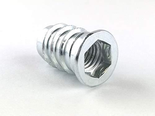 20x Einschraubmuttern Gewindemuffen Innensechskant Senkkopf M8 12x20