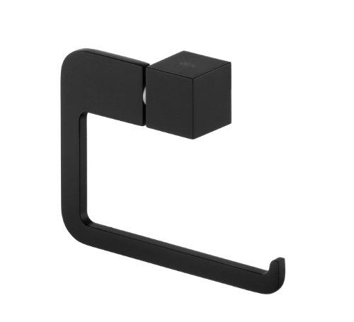 Bisk 02963 Futura Toilettenpapierhalter ohne Abdeckung, 13,5x3x9,5cm, Schwarz
