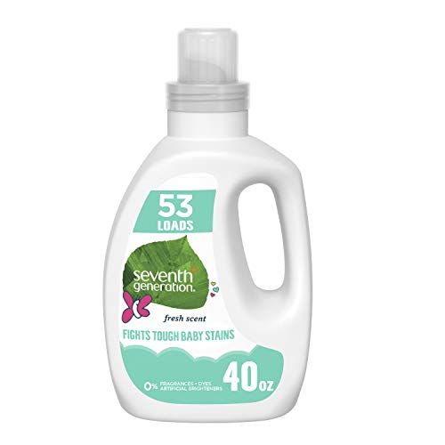 Image of Seventh Generation Concentrated Baby Laundry Detergent, Fresh Scent, 40 oz (53 Loads)
