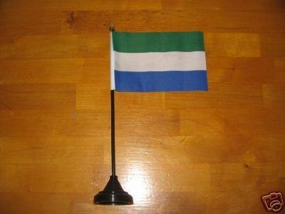Sierra Leone Tisch Flagge