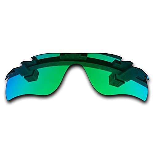 SYEMAX Lentes de repuesto para espejo polarizado, compatibles con Oakley RadarLock path ventilado (OO9181) Sunglass - Múltiples opciones, (Verde zafiro polarizado), Talla única