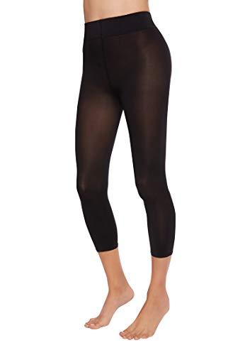 Wolford Damen Leggings (LW) Velvet 66 Capri, 66 DEN,black,Small (S)