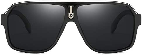 DUBERY Mens Oversized Aviator Sunglasses Classic Large Polarized Lens Shades D103