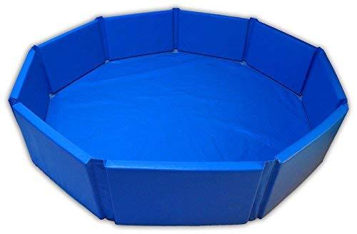 Profi- Rundpool Schaumstoff Pool 200cm + Bällebadbälle Gewerbe Bälle TÜV Zertifiziert (Pool 2,00m ohne Bälle)
