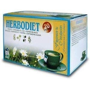 Novadiet Infusion Herbodiet Favorece tu Circulacion - 6 Paquetes de 20 Unidades
