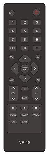 New VR10 Remote Control Compatible for Vizio TV E190VA E220MV E220VA E260MV E260VA E321VA E370VA E371VA E420VA E421VA M190VA M220VA M260VA