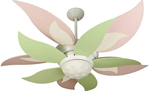 """Bloom 52"""" Ceiling Fan with CFL Lights and Remote & Wall Control, 10 Blades, White - Craftmade K10367"""