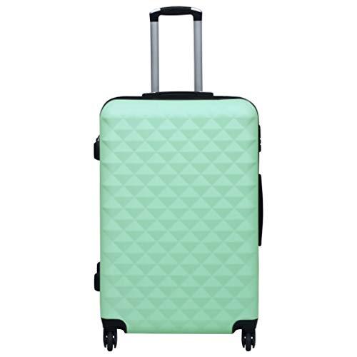 Lechnical Práctica Maleta de Viaje, Maleta rígida de ABS Verde Menta 76 x 48 x 28 cm (Largo x Ancho x Alto) -con Cerradura de Seguridad y poleas