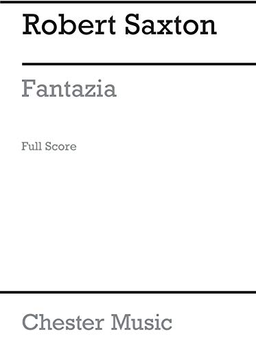 Robert Saxton: Fantazia for String Quartet (Score)