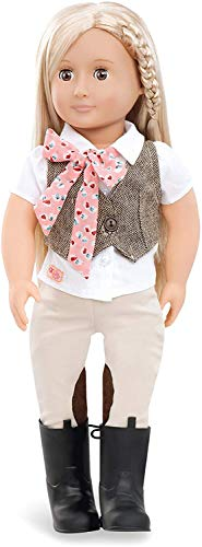 Our Generation BD31062Z Riding Doll w/Tweed Vest, Leah Spielzeugpuppe
