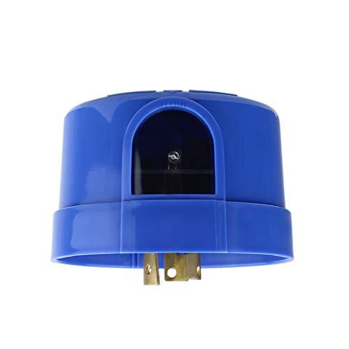 J.LUMI YCA1008 Twist Lock Photocell for Outdoor Light, Blue, Electronic Type, Photocell for Outdoor Lights, Twist Lock Photo Control Light Sensor, Dusk to Dawn Light Sensor (UL Listed)