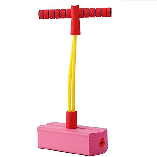 AMZYY Movimiento de Juguetes para niños, Palitos de Pogo para niñas, Juegos de Bungee Jumper, Juguetes Que Rebotan para Mayores de 3 años, Pascua,Pink