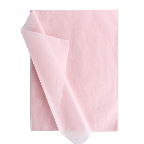 100 Hojas Papel de Seda Envolver Regalo Flores 50x35cm Decoración Manualidades para San Valentín Bodas Fiestas Cumpleaños Navidad Rosa