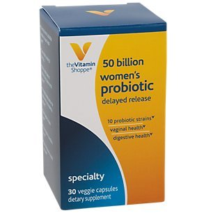 Women's Probiotic Delayed Release 50 Billion with 10 Probiotic Strains to Support Digestive, Immune Vaginal Health or Yeast Imbalance Shelf Stable (30 Veggie Caps) by The Vitamin Shoppe