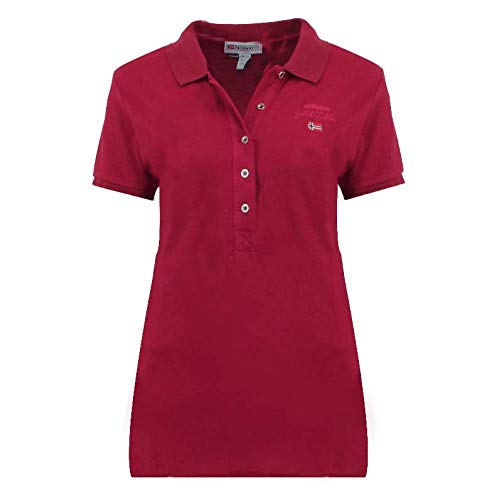 Geographical Norway Polo Kelodie Lady 100 % coton T-shirt femme ST4083F-GN-Bordeaux-XL