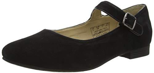 Hush Puppies Melissa Strap, Zapatos Planos Mary Jane Mujer, Black, 35.5 EU