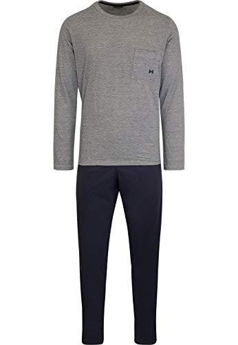 HOM - Herren - Lang-Pyjama \'Comfort\' - 2-Set hochwertige Schlafmode - Navy - S