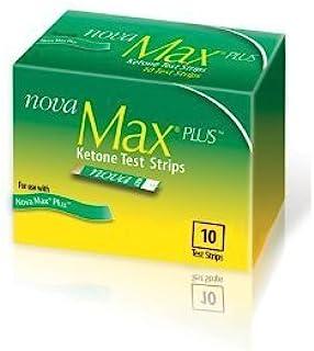 Nova Max Plus Ketone Test Strips - 10 Ct (Pack of 2)