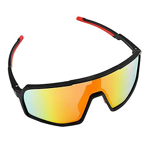 Sannofair Gafas de ciclismo, marco irrompible, gafas de sol polarizadas ajustables, deportes al aire libre, golf, ciclismo, pesca, senderismo, gafas de sol, rosso, M