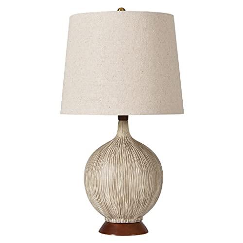 Lámpara de mesita de noche Lámpara de mesa de cerámica Dormitorio de noche lámpara de cama creativa coco concha de cerámica lámpara mesa americana moderno minimalista cálido romántico sala de estar ho