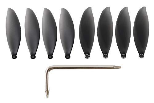 Yangers 4 Paar Zweiblatt Propeller für Parrot ANAFI Drone, 8 Stück Klappbare Prop Blades für Parrot ANAFI 4K HDR Kamera Drohne (Schwarz)