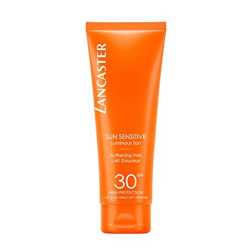 LANCASTER Sun Sensitive Delicate Softening Milk LSF 30, Körper-Sonnenmilch, Infrarot-, UVA- und UVB-Schutz, sensible Haut, 125 ml