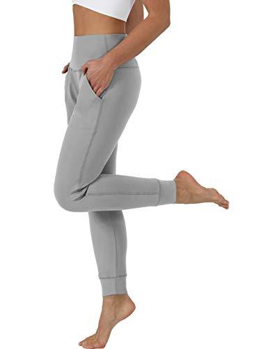 Chiphell Women's High Waist Joggers for Workout, Yoga, Running Pants LightGray