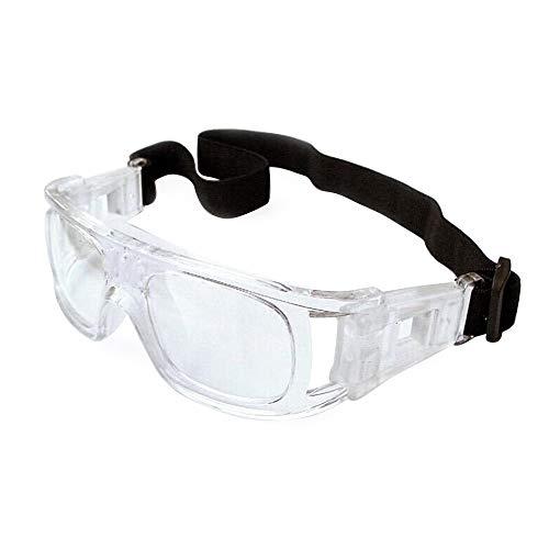 EnzoDate Gafas de Baloncesto fútbol Gafas de los Hombres, Protector fútbol Gafas, Gafas de Deporte Profesional (Blanco)