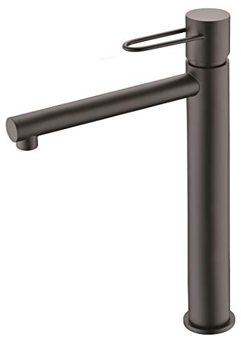 Grifo de lavabo caño alto Imex Milos Negro BDY027-3NG