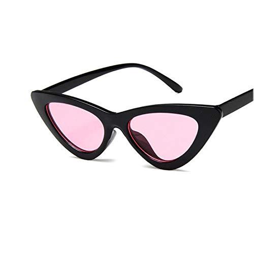 NJJX Gafas De Sol Triangulares Con Forma De Ojo De Gato Para Mujer, Gafas Retro Vintage Para Mujer, Gafas De Sol De Moda C6Pink