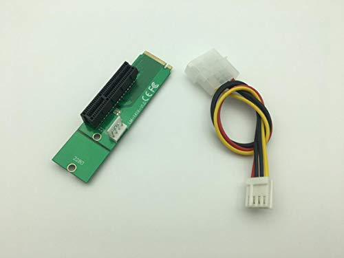 NGFF M2 M.2 to PCI-E 4X 1x Slot Riser Card Adapter Male...