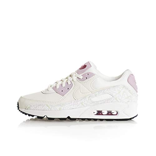 Nike Air MAX 90 Vday, Walking Shoe Womens, Blanco, 42 EU