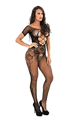 WIFMUS Short Sleeve Sexy Lingerie for Women Plus Size Sleepwear Exotic Baby Doll Black